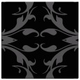 rug #519313 | square black damask rug