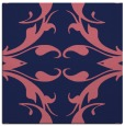 rug #519397 | square blue-violet damask rug