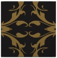 rug #519421 | square black damask rug