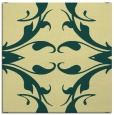 rug #519509 | square blue-green damask rug