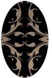 rug #519669 | oval beige damask rug