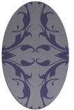 rug #519745   oval blue-violet damask rug