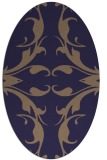 rug #519765   oval blue-violet damask rug