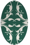 rug #519789   oval green damask rug