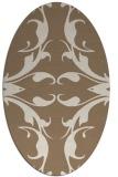 rug #519809 | oval beige damask rug