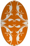 rug #519849   oval orange damask rug