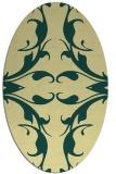 rug #519861 | oval damask rug