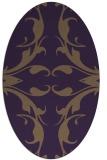 rug #519889 | oval purple damask rug