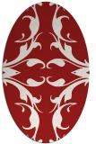 rug #519905   oval red damask rug