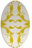rug #519933 | oval white damask rug