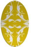 rug #519957 | oval white damask rug