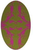 rug #519985   oval pink damask rug