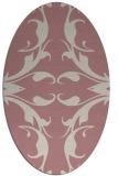rug #519997   oval pink damask rug