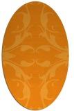 rug #520001   oval light-orange damask rug
