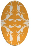 rug #520005 | oval light-orange damask rug