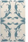 rug #520033    blue-green damask rug