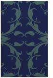 rug #520041 |  blue-green damask rug