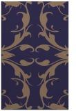 rug #520117 |  blue-violet damask rug
