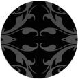 rug #520369   round black damask rug