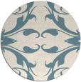 rug #520385 | round blue-green damask rug