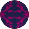 rug #520389   round blue damask rug