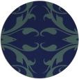 rug #520393   round blue damask rug