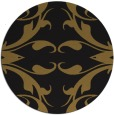 rug #520477 | round mid-brown damask rug