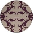 rug #520517   round pink damask rug