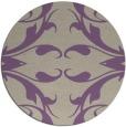rug #520541 | round purple damask rug