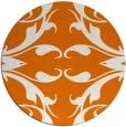 rug #520553 | round orange damask rug