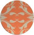 rug #520557 | round orange damask rug