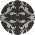 rug #520561 | round red-orange damask rug
