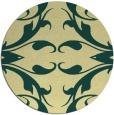 rug #520565   round yellow damask rug
