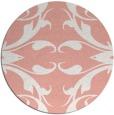 rug #520581 | round pink damask rug