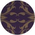 rug #520593   round purple damask rug