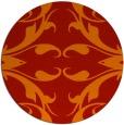 rug #520605   round red damask rug