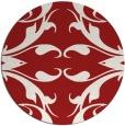 rug #520609   round red damask rug