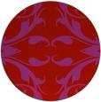 rug #520613 | round red damask rug
