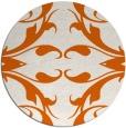 rug #520629 | round red-orange damask rug