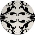 rug #520633 | round black damask rug