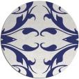 rug #520641   round blue rug