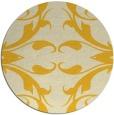 rug #520649 | round yellow damask rug