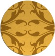 rug #520665   round yellow damask rug