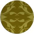 rug #520681 | round light-green damask rug