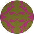 rug #520689 | round light-green damask rug