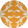 rug #520709 | round light-orange damask rug