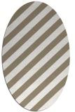 rug #521417 | oval white stripes rug