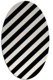 rug #521421 | oval white stripes rug