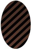 rug #521433 | oval brown rug