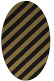 rug #521437 | oval mid-brown stripes rug